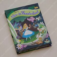 Disney Japan alice in wonderland hard cover memo pad 4 paper design