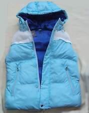 PRIMARK Weste Steppweste wattiert blau Gr. 38 Steppweste Oberteil Kapuze