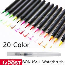 20 Colors Water Brush Pen Art Paint Brush for Watercolor Watercolour Brush Set w
