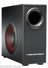 "Cerwin Vega XD8S 8"" Powered Subwoofer for Computer Desktop Remote Control XD-8S"