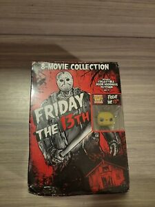 Friday The 13th 8-Movie DVD Collection With Funko Pop! Keychain *Factory Sealed*