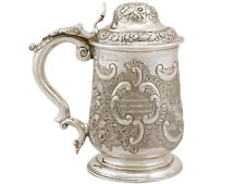 Georgian Sterling Silver Quart Tankard 964g