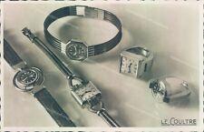 ab98 cartolina fotografica pubblicitaria orologio le coultre