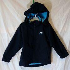 Boys Nike Dark Navy Blue Logo Sheen Fleece Lined Hooded Coat Age 4-5 Years