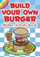 BUILD YOUR OWN BURGER STICKER ACTIVITY BOOK, scene, 32 reusable stickers, FUN!
