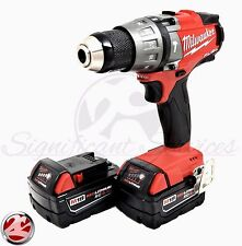 "Milwaukee 2704-20 FUEL M18 1/2"" Cordless Hammer Drill Drill/Driver 5.0Ah Battery"