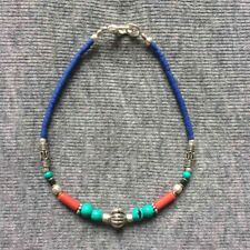 Nepalese Handmade Ethnic Turquoise Coral Blue Beads Bracelets Fashion Bangles