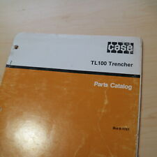 Case Tl100 Walk Behind Trencher Parts Manual book catalog spare list 8-1761 1988