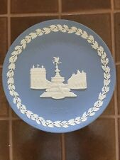 Wedgwood Pale Blue And White Jasper 1971 Christmas Piccadilly Circus Plate