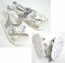 White Silver Hologram Butterfly Sandals 0-3 Months Baby Girls