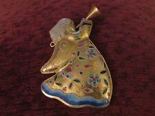 Alsan Company Alessandria Turn of Century Victorian Enameling Angel Ornament