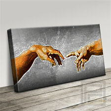 Creazione di Adam iconico MICHELANGELO STYLED canvas Art Print Picture artwilliams