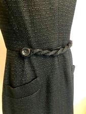 $1.450 38 XS S DOLCE & GABBANA TWEED DRESS BLACK ZIPPER BACK SLEEVELESS LACE
