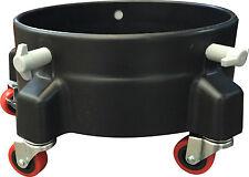 Grit Guard Bucket Dolly 5 Caster 5 Gallon Bucket Holds 250 Pounds BD5CBLACK