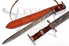 Damascus steel blade CELTIC Sword,Handmade SWORD.DAMASCUS HILTS,ROSE WOOD HANDLE