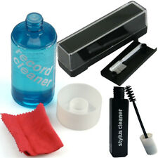 Record Cleaning Kit. Pad Brush, Vinyl LP Cleaner Fluid cloth & Stylus Fluid