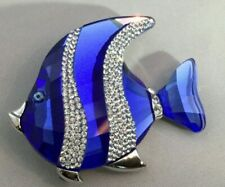 SWAROVSKI Crystal Paradise Jewelry Pin Brooch Angel Fish Colina Blue FiP14