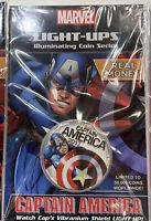 Marvel Avengers Captain America Fuji Light Up 50 Cent Coin New 2017 Sealed