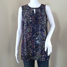 Cabi Women's Tank Size Small Stained Glass Blouse Sleeveless Fall 2015 3093