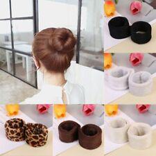 Women Hair Accessory HairBands Bun Maker Updo Tool Wrap Snap Foldable Beauty