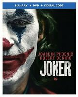 JOKER- Joaquin Phoenix, 2019 - BLU-RAY + DVD + DIGITAL WITH SLIPCOVER- NEW