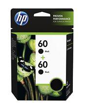 HP 60 Ink Cartridges 2 Pack CZ071FN - Black