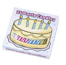 BOX OF 24 BIRTHDAY PARTY CANDLES - KIDS CHILDRENS CAKE CANDLE ACCESSORY