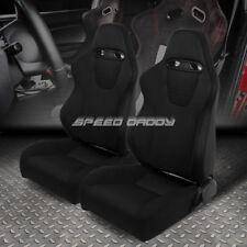 2 SPORTS TYPE-XL09 RECLINABLE SINGLE ADJUSTER/SLIDEWAY RACING SEAT+SLIDER BLACK