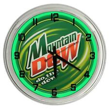 "Mountain Dew 17"" Green Neon Clock from Redeye Laserworks"