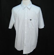 SALOMON Men's (Size XXL) Gray Checks Short Sleeve Button Front Shirt Polyester