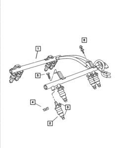 Genuine MOPAR Fuel Rail 5014496AE