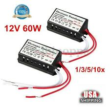 60W 110V to 12V AC Halogen Module Power Supply Converter Electronic Transformer