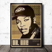 Dr. Dre Hip hop Art Poster Affiche Musique rap Tupac Eminem NWA Ice Cube Kendrick Lamar