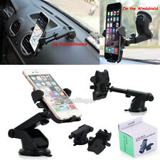 Universal 360°Rotating Car Windshield Dash Mount Holder Stand F Mobile Phone GPS