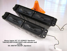 "Sharp Aquos 42"" LC-42D62U Speakers 7H616Q RSP-ZA2011JJZZ with mounts and wiring"