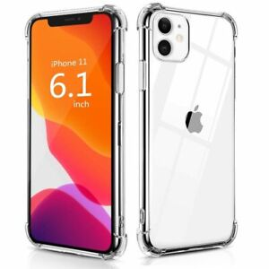 Shockproof Tough Gel Clear Case Cover for Apple iPhone 12 11 Pro Max 6 7 8 XR XS