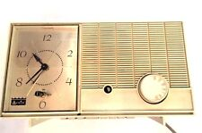 Arvin Transistor Radio Tube Clock Vintage AM 1950 Mid-Century 55R07 VTG Man Cave