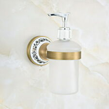 Kitchen Bathroom Accessory Antique Brass Porcelain Soap Dispenser Gba814