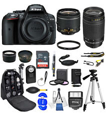 Nikon D5300 18-55mm + 70-300mm Ultimate Backpack Bundle+32gb+More *Brand New*