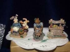 Boyds Bearly Built Villages Accessory Stuff Timmy Ray, Pearl & Earl