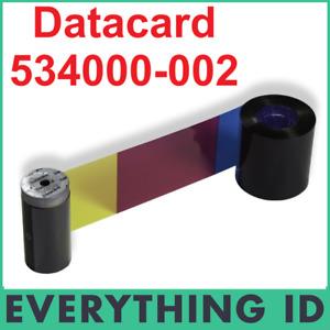 DATACARD 534000-002 YMCKT FULL COLOUR PRINT RIBBON SP & SD PRINTERS 250 PRINTS