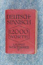 Libro miniatura (1cm - 5 cm). Alemán - Español. Deutsch - Spanisch. Miniature
