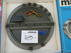 Märklin H0 7186 Turntable M Track with Switch Manual Cable Set New Boxed