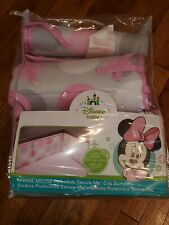 Disney Baby Minnie Mouse Polka dots Pink Baby Crib Bedding Bumper Secure-Me New