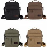 Men's Canvas Bag Shoulder Messenger School Bags Vintage Military Travel Satchel