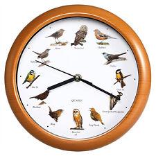 Wanduhr Uhr Kinderuhr 12 Vogelstimmen Ohne Ticken Nachtruhe Quarzuhrwerk 25 cm