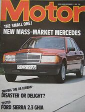 Motor magazine 11/12/1982 featuring Ford Sierra road test