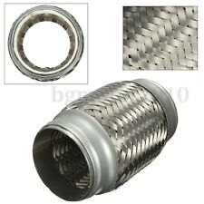 2.5''x 5'' Stainless Steel Exhaust Pipe Double Braided Flex Connector Piping New