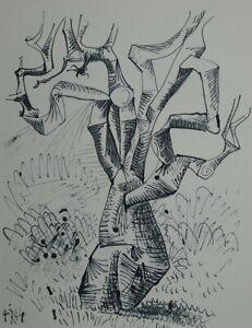 PICASSO Pablo (d'après) : L'arbre - Eau Forte - 31x24cm - 1952