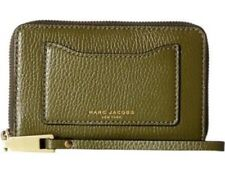New Marc Jacob card slot billfold top zip phone wristlet wallet Army green olive